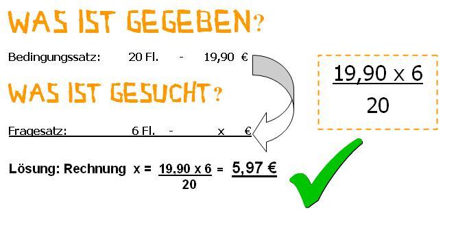 Dreisatz Aufgaben Beispielaufgaben Zum Dreisatz