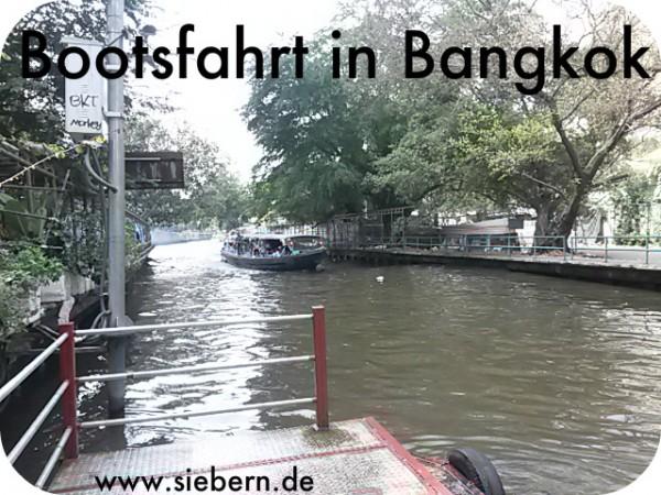 Bootsfahrt in Bangkok