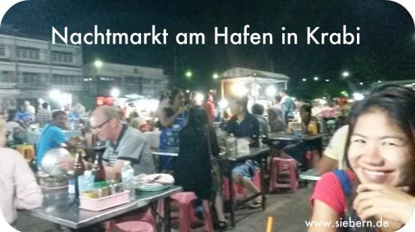 Nachtmarkt am Hafen Krabi